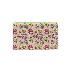 Sweet Pattern Cosmetic Bag (xs) by Valentinaart