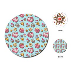 Sweet Pattern Playing Cards (round)  by Valentinaart