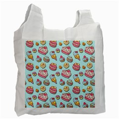 Sweet Pattern Recycle Bag (one Side) by Valentinaart
