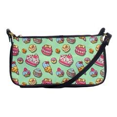 Sweet Pattern Shoulder Clutch Bags by Valentinaart