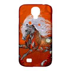 Steampunk, Wonderful Wild Steampunk Horse Samsung Galaxy S4 Classic Hardshell Case (pc+silicone) by FantasyWorld7