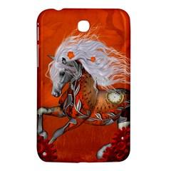 Steampunk, Wonderful Wild Steampunk Horse Samsung Galaxy Tab 3 (7 ) P3200 Hardshell Case  by FantasyWorld7