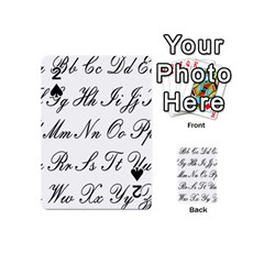 Alphabet Embassy Font Playing Cards 54 (mini)  by Mariart