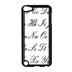 Alphabet Embassy Font Apple Ipod Touch 5 Case (black) by Mariart