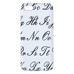 Alphabet Embassy Font Iphone 5s/ Se Premium Hardshell Case by Mariart