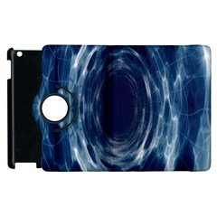 Worm Hole Line Space Blue Apple Ipad 2 Flip 360 Case by Mariart