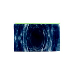 Worm Hole Line Space Blue Cosmetic Bag (xs) by Mariart