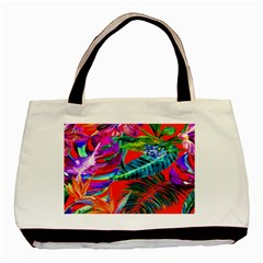 Aloha Hawaiian Flower Floral Sexy Summer Orange Basic Tote Bag (two Sides) by Mariart