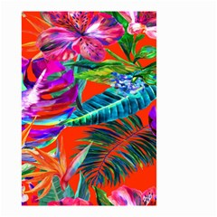 Aloha Hawaiian Flower Floral Sexy Summer Orange Small Garden Flag (two Sides) by Mariart