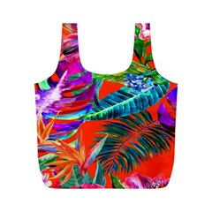 Aloha Hawaiian Flower Floral Sexy Summer Orange Full Print Recycle Bags (m)  by Mariart