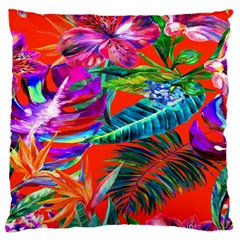 Aloha Hawaiian Flower Floral Sexy Summer Orange Standard Flano Cushion Case (one Side) by Mariart