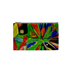 Acrobat Wormhole Transmitter Monument Socialist Reality Rainbow Cosmetic Bag (small)  by Mariart