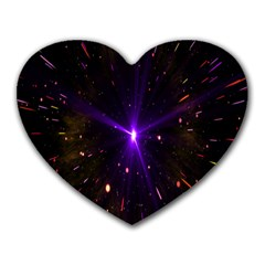 Animation Plasma Ball Going Hot Explode Bigbang Supernova Stars Shining Light Space Universe Zooming Heart Mousepads by Mariart