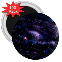 Animation Plasma Ball Going Hot Explode Bigbang Supernova Stars Shining Light Space Universe Zooming 3  Magnets (100 Pack) by Mariart