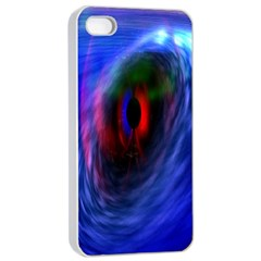 Black Hole Blue Space Galaxy Apple Iphone 4/4s Seamless Case (white) by Mariart
