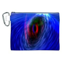 Black Hole Blue Space Galaxy Canvas Cosmetic Bag (xxl) by Mariart