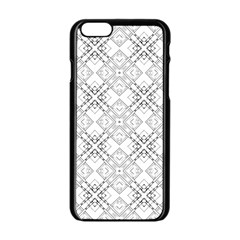 Background Pattern Diagonal Plaid Black Line Apple Iphone 6/6s Black Enamel Case by Mariart