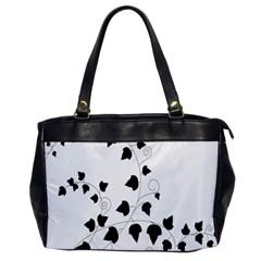 Black Leaf Office Handbags by Mariart