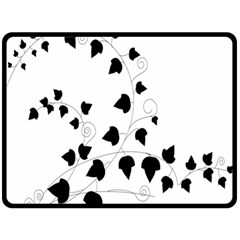 Black Leaf Double Sided Fleece Blanket (large)  by Mariart