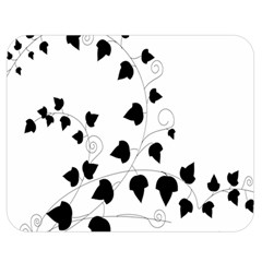 Black Leaf Double Sided Flano Blanket (medium)  by Mariart
