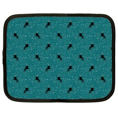 Unicorn Pattern Aqua Netbook Case (large) by MoreColorsinLife