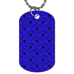 Unicorn Pattern Blue Dog Tag (two Sides) by MoreColorsinLife