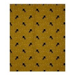 Unicorn Pattern Golden Shower Curtain 60  X 72  (medium)  by MoreColorsinLife