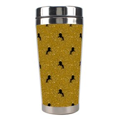 Unicorn Pattern Golden Stainless Steel Travel Tumblers by MoreColorsinLife