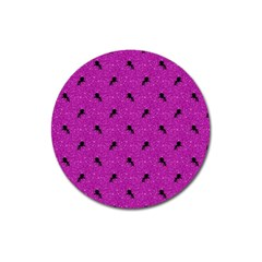 Unicorn Pattern Pink Magnet 3  (round) by MoreColorsinLife