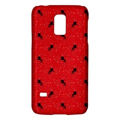 Unicorn Pattern Red Galaxy S5 Mini by MoreColorsinLife