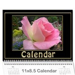 Jane My Black and Gold  Wall Calendar 11x8.5 - Wall Calendar 11  x 8.5  (12-Months)