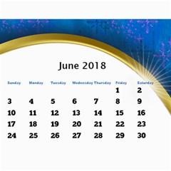 Jane 2018 Calendar With Class And Large Numbers By Deborah   Wall Calendar 11  X 8 5  (12 Months)   R6kx9dnzu452   Www Artscow Com Jun 2018