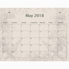 Jane Coffee And Cream (any Year) 2018 Calendar By Deborah   Wall Calendar 11  X 8 5  (12 Months)   Q76fkighcvzg   Www Artscow Com May 2018