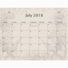 Jane Coffee And Cream (any Year) 2018 Calendar By Deborah   Wall Calendar 11  X 8 5  (12 Months)   Q76fkighcvzg   Www Artscow Com Jul 2018