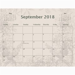 Jane Coffee And Cream (any Year) 2018 Calendar By Deborah   Wall Calendar 11  X 8 5  (12 Months)   Q76fkighcvzg   Www Artscow Com Sep 2018