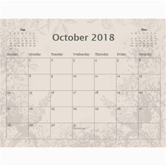 Jane Coffee And Cream (any Year) 2018 Calendar By Deborah   Wall Calendar 11  X 8 5  (12 Months)   Q76fkighcvzg   Www Artscow Com Oct 2018