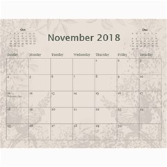Jane Coffee And Cream (any Year) 2018 Calendar By Deborah   Wall Calendar 11  X 8 5  (12 Months)   Q76fkighcvzg   Www Artscow Com Nov 2018