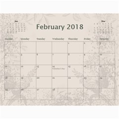Jane Coffee And Cream (any Year) 2018 Calendar By Deborah   Wall Calendar 11  X 8 5  (12 Months)   Q76fkighcvzg   Www Artscow Com Feb 2018