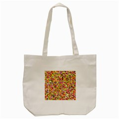 Multicolored Mixcolor Geometric Pattern Tote Bag (cream) by paulaoliveiradesign
