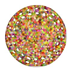 Multicolored Mixcolor Geometric Pattern Ornament (round Filigree) by paulaoliveiradesign