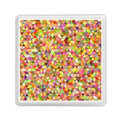 Multicolored Mixcolor Geometric Pattern Memory Card Reader (square)  by paulaoliveiradesign