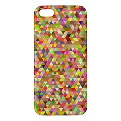 Multicolored Mixcolor Geometric Pattern Iphone 5s/ Se Premium Hardshell Case by paulaoliveiradesign