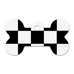 Grid Domino Bank And Black Dog Tag Bone (two Sides) by Nexatart
