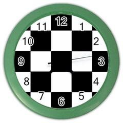 Grid Domino Bank And Black Color Wall Clocks by Nexatart
