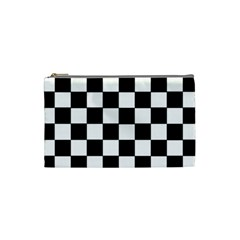 Grid Domino Bank And Black Cosmetic Bag (small)  by Nexatart