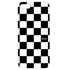 Grid Domino Bank And Black Apple Iphone 5 Hardshell Case With Stand by Nexatart