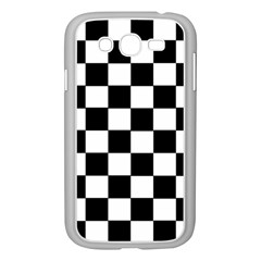 Grid Domino Bank And Black Samsung Galaxy Grand Duos I9082 Case (white) by Nexatart