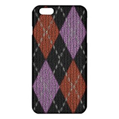 Knit Geometric Plaid Fabric Pattern Iphone 6 Plus/6s Plus Tpu Case by paulaoliveiradesign