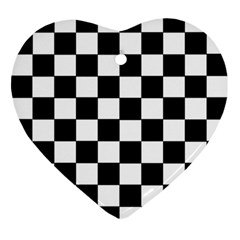 Grid Domino Bank And Black Ornament (heart)