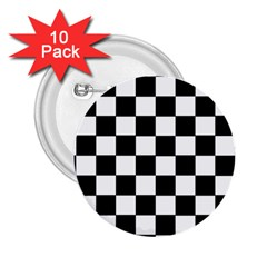 Grid Domino Bank And Black 2 25  Buttons (10 Pack)  by Nexatart